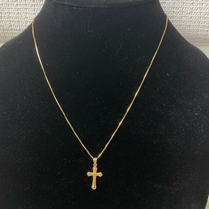 Jewelry - 14K Solid Gold Cross Pendant Necklace